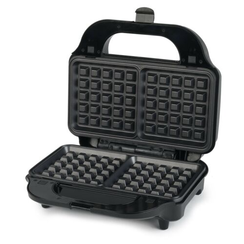 Salter EK2143 Deep Fill 3-in-1 Snack Maker with Waffle, Panini and Toasted Sa...