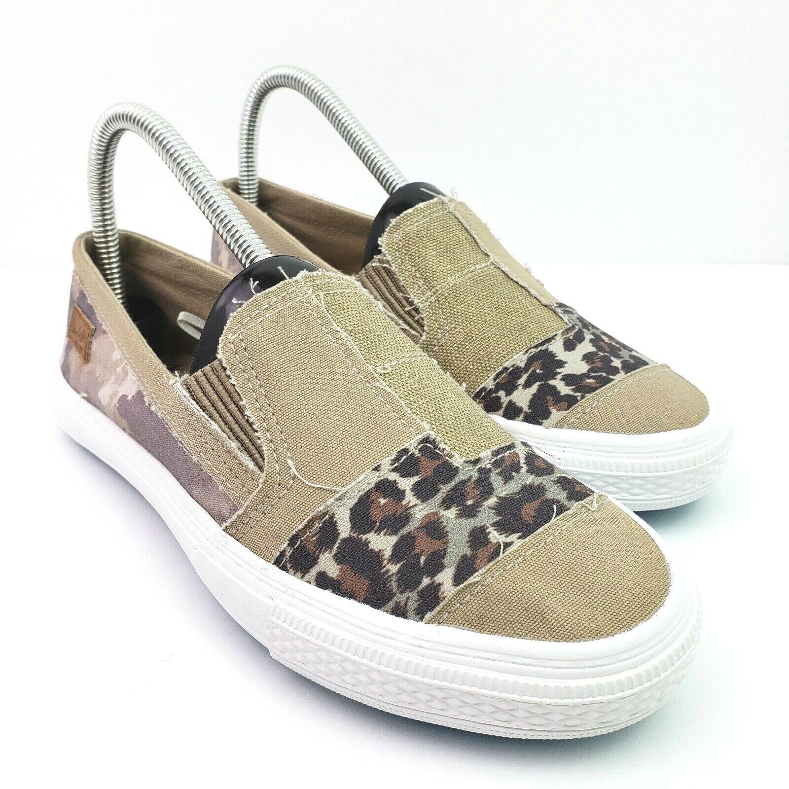 Blowfish Malibu Aliso Womens Size 7.5 Tan Leopard Slip On Comfort Flats Shoes
