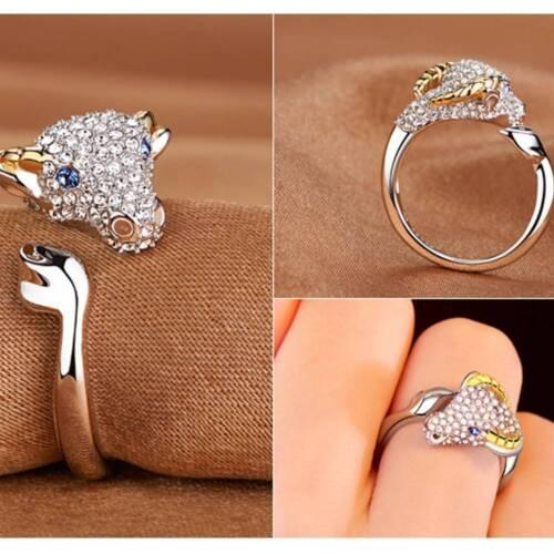 Fashion Platinum Plated Index Finger Opening Ring 12 Zodiac Ring