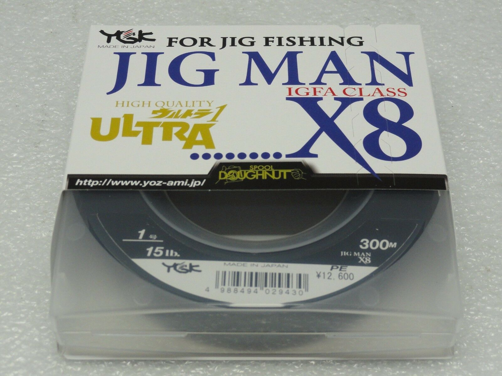 YGK JIG MAN IGFA CLASS X8 8 Braided PE 1 line SPECTRA lb 300m Made in Japan