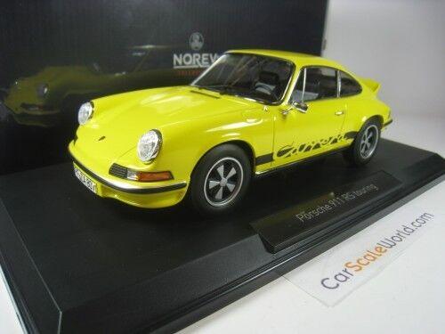 PORSCHE 911 CARRERA RS TOURING 1973 1 18 NOREV (amarillo)