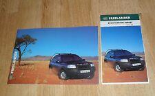 Land Rover Freelander Brochure Set 2000 - 3 & 5 Door - 2.5 V6 1.8 TD4 - S GS ES