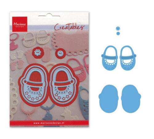 Stanzschablone Füße Schuhe BABY FÜßCHEN MARIANNE DESIGN CREATABLES Präge