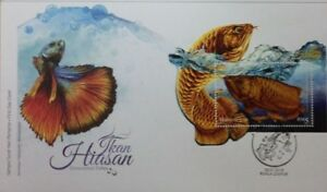 Malaysia FDC with Miniature Sheet (30.01.2018) - Ornamental Fishes