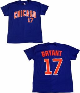 brand new d2ad6 ffe84 Details about Chicago Cubs Kris Bryant #17 Jersey T-Shirt Road Blue 11589