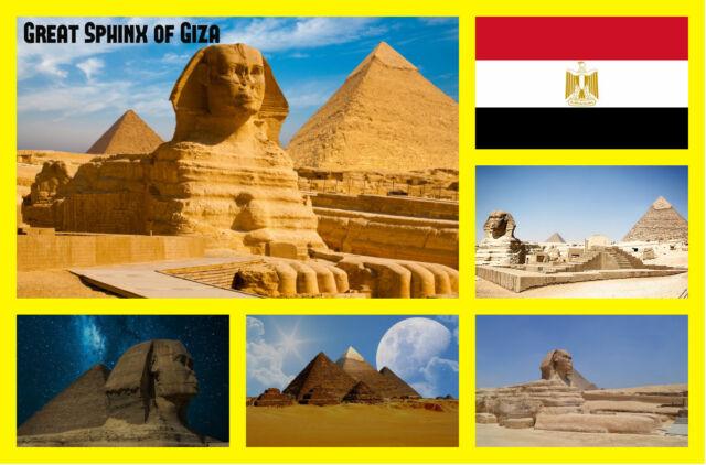 Great Sphinx de Giza,Egipto - Recuerdo Original Imán Nevera - Monumentos/Regalos