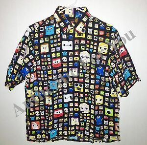 Disney-Parks-D23-Pixar-John-Lasseter-Reyn-Spooner-Men-Hawaiian-Camp-Shirt-S-2XL