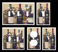 Wine Bottles Grapes Light Switch Cover Plate You Pick Size