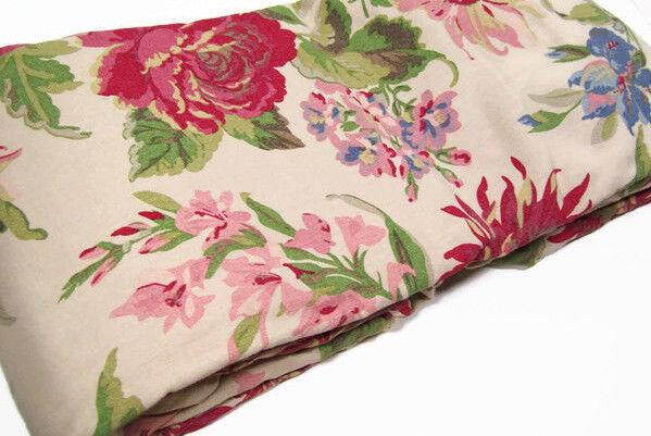 Pottery Barn Multi Colors Marla Floral Print Cotton Linen