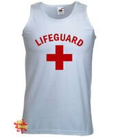 LIFEGUARD novelty stag party fancy dress baywatch t shirt VEST All Sizes