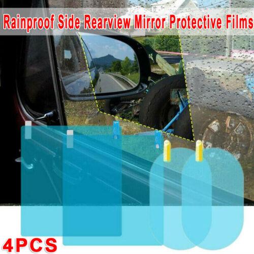 4* Car Rearview Mirror Side Window Glass Anti-Fog Film Rain Protection Uk