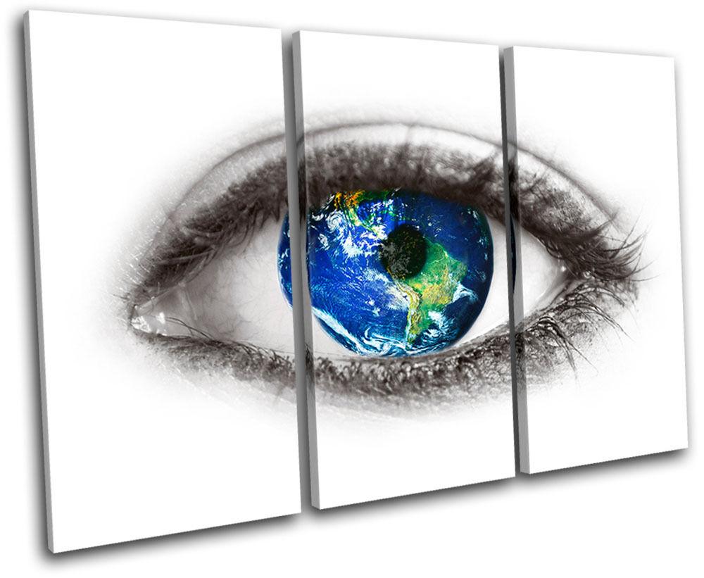 Seeing eye eye eye Planet earth  fantasy TREBLE TELA parete arte foto stampa 0a0927