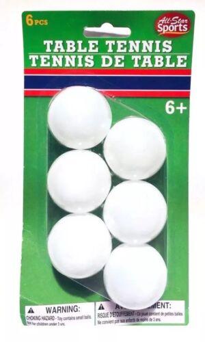 Tennis de Table jouer au ping Beer Pong Balls 6 Ball All Star Sports NEUF