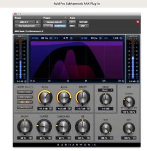 Avid Pro Subharmonic AAX Native , AAX DSP Plugin License ...