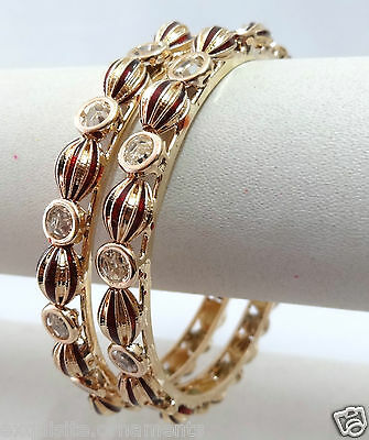 Indian Bollywood Fashion Costume jewelry bangle CZ gold plated bracelet 5906