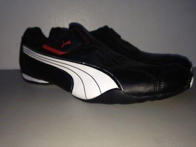 185999 02 da Uomo Puma Redon Move Scarpe da Ginnastica in Pelle Nero Bianco Rosso 11.5   eBay