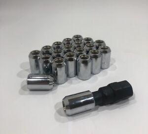 20-x-7-16-Tuner-Spline-8-Point-Lug-nuts-Locks-w-key-Buick-Pontiac-Oldsmobile