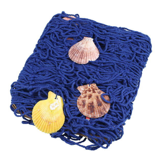 Nautical Fishing Net Decorative Seaside Wall Beach Party Sea Shell Decor HU
