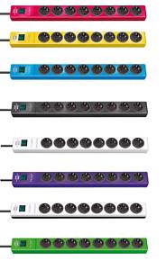 2x-Brennenstuhl-Steckdosenleiste-8-fach-Steckdose-Mehrfachstecker-mit-Schalter