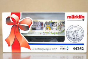 CARRO-CONTAINER-MUKO-1997-MODELLISMO-STATICO-MARKLIN-BIRTHDAY-CART-44262-244CA