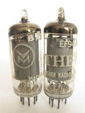 2 matched 1957-60 Mullard EF94 6AU6 tubes - TV7B tested @ 94, 95, min:58