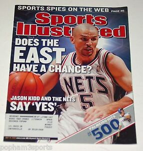 5bdbb653a45 JASON KIDD - Sports Illustrated SI - New Jersey Nets 2003 NBA | eBay