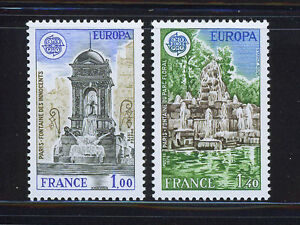 FRANCIA-FRANCE-1978-MNH-SC-1609-1610-CEPT-Architecture
