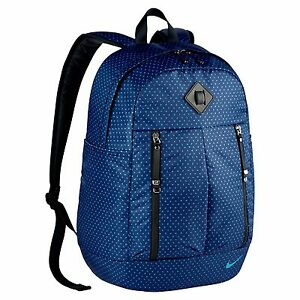 Nike Women Auralux Printed Royal Blue Black Backpack BA5242 455 Gym ... b303de20e4