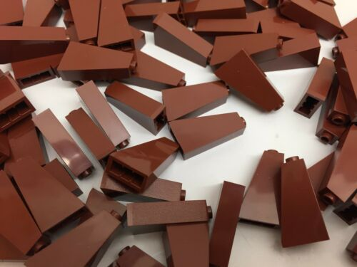 LEGO 4460-5 Brand NEW Dark Brown 1x2x3 75° Brick Slopes