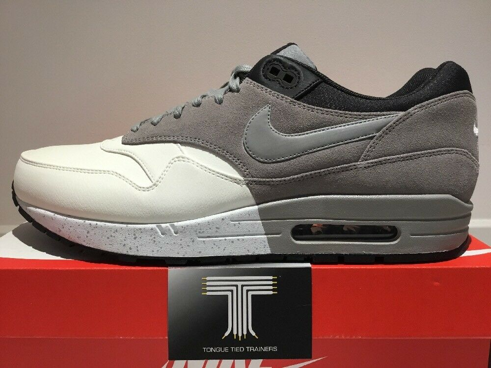 Nike Air Max 1 Premium Leather ~ Rare Only One On Ebay 512033 101 ~Uk