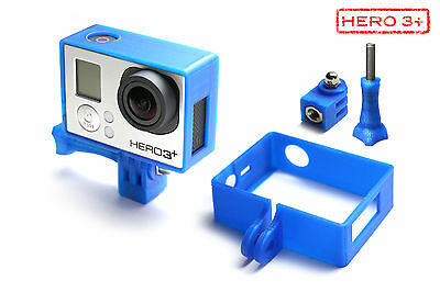 Frame Mount Tripod Mount for GoPro HD Hero 3+Black Accessory Trip Adapter Blue