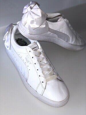 Puma Basket Bow trainers Size 6.5 White