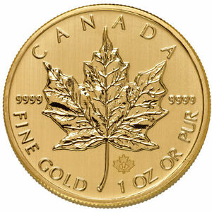ON SALE 1 oz Canadian Gold Maple Leaf Coin 9999 Pure Varied Year BU