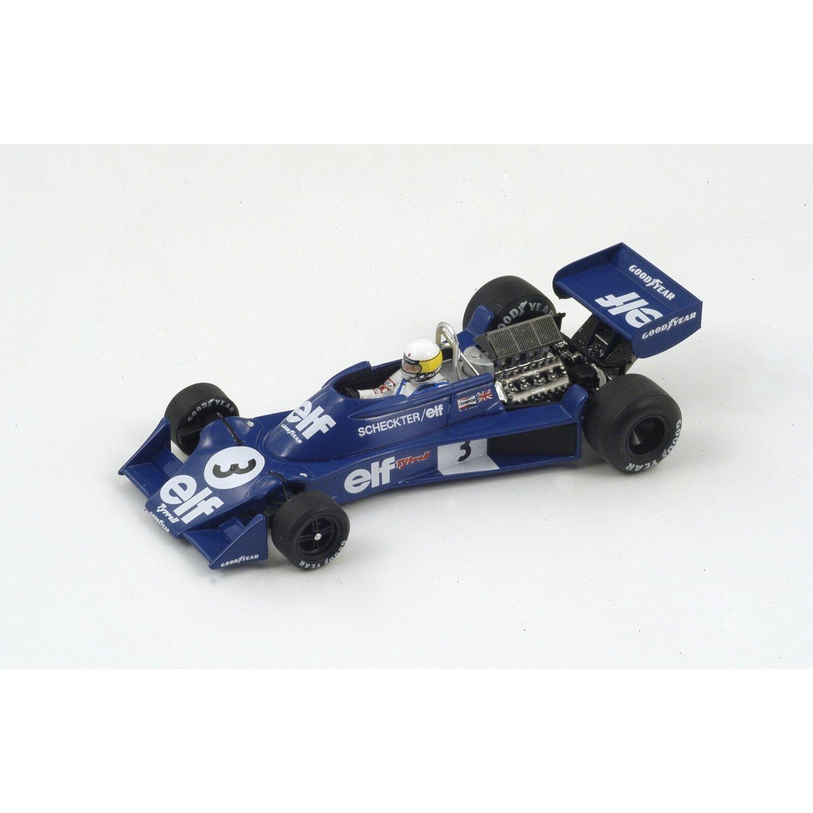 Spark tyrrell 007 no.3 gp spain 1976 jody ferrari s1882  1 43  excellent prix