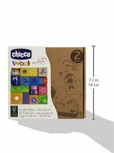 Chicco 5165 - Gioco Set 23 Pezzi Cubetti in legno