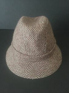 Details about KANGOL BROWN CAMEL WOOL TWEED MENS DESIGNER FEDORA HAT 3227dd331e1