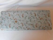 Henry Glass Buggy Barn Iced Mocha Blue Brown Cotton Fabric 1903A Retired Flowers