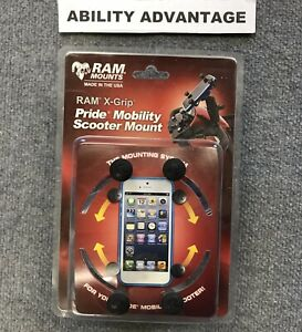 RAM-X-GRIP-Smart-Phone-Holder-for-Pride-Mobility-Scooters-NEW