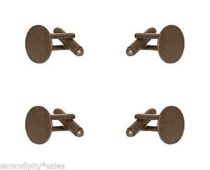 Steampunk Round Copper Cuff Links