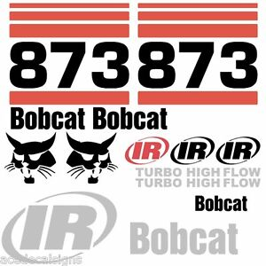 ANY-MODEL-Bobcat-873-DECALS-Stickers-Skid-Steer-loader-New-Repro-decal-Kit