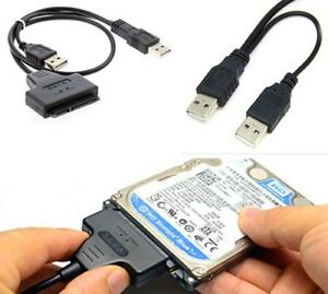 2-5-034-Hard-Disk-Drive-SATA-22Pin-to-USB-2-0-Powered-Data-Cable-Adapter-For-PC-US