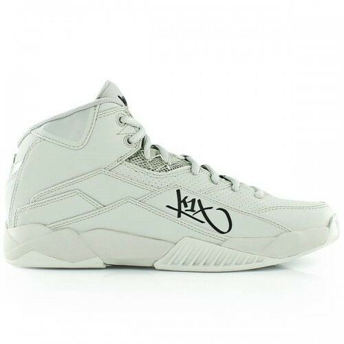 K1X anti Gravity Concrete Grey Basketball shoes Grey mid Cut