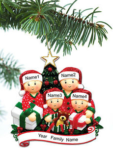 Personalized Christmas Tree Ornaments Family of 2 3 4 5 Holiday Gift ...