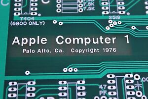 APPLE 1 COMPUTER MOTHERBOARD PCB REPLICA PRE NTI NEWTON 1 JOBS WOZ ...