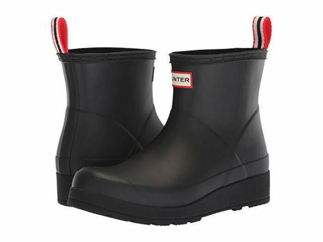 HUNTER ORIGINAL PLAY BOOT MID RAIN BOOTS MEN'S SIZE US 8 EU 4041 UK 7 BLACK