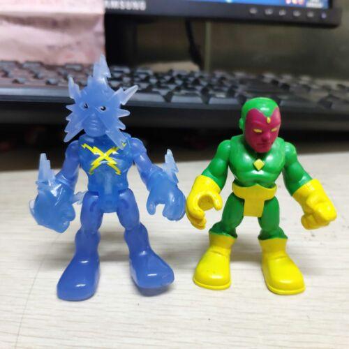 2pcs Hasbro Playskool Marvel Super Hero Adventures BLUE ELECTRO /& Vision