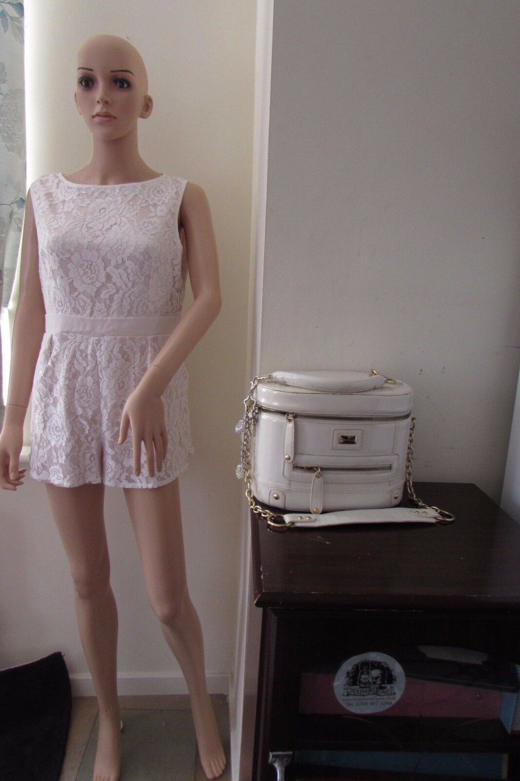Little Mistress Petite Sleeves Lace Playsuit 16