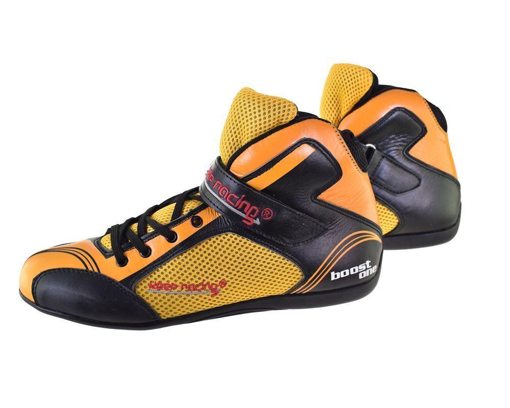 Kart- & Motorsportschuh keep-racing® Modell BOOST ONE schwarz gelb gelb gelb Gr. 34 - 49 9ab1c8