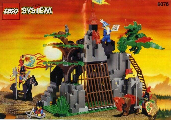 Lego Schloss Drache Ritter 6076 Dunkel Dunkel Dunkel Dragon's den Neu Ovp 54b997