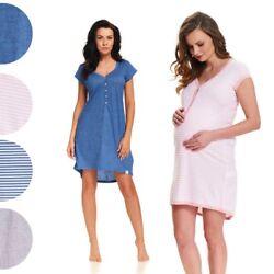 Mutterschaft Schwangerschaft NachthemdStillen mit knöpfen 5038